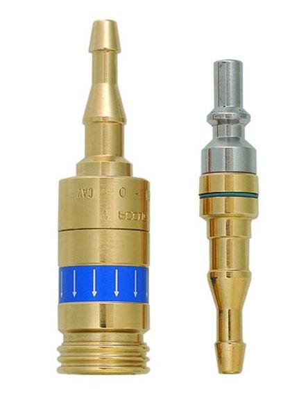 Bild von Schnellkupplung inkl. Stecknippel Sauerstoff (8612-O)