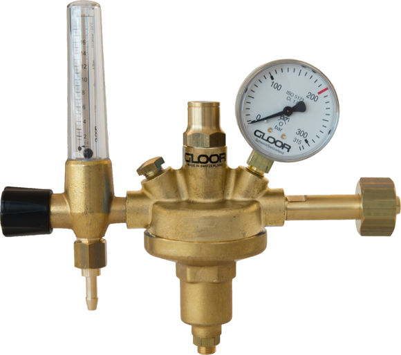 Picture of HP Regulator formation gas flowmeter 3 l/min