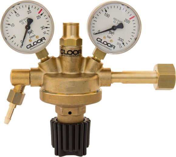 Picture of HP Regulator formation gas flowmeter l/min