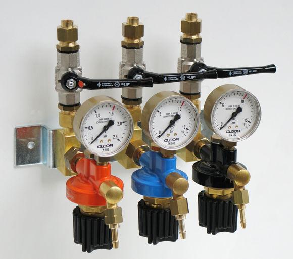 Afbeeldingen van Gasafnamestation voor 3 gassoorten
